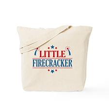 4th of July, Little Firecracker Tote Bag