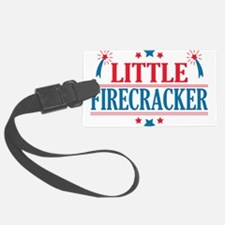 4th of July, Little Firecracker Luggage Tag
