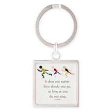 RUNNERS - It does not matter how s Square Keychain