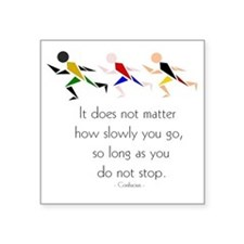 "RUNNERS - It does not matte Square Sticker 3"" x 3"""