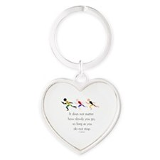RUNNERS - It does not matter how sl Heart Keychain