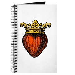Medieval Crowned Heart, gold Journal