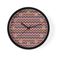Tropical Zigzag Wall Clock