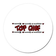 Top Chef Round Car Magnet