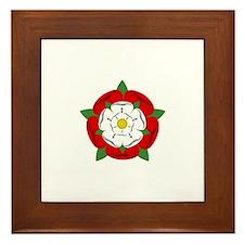 Heraldic Rose Framed Tile