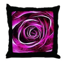 Unique Purple rose Throw Pillow