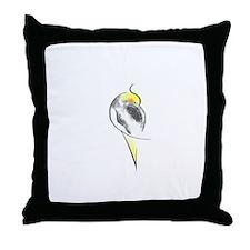 Pied Cockatiel Throw Pillow