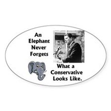 Elephant Never Forgets a Conservative Decal