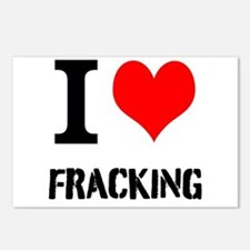 I Love Fracking Postcards (Package of 8)