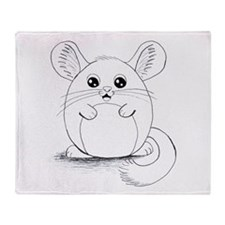 Chinchilla Sketch Throw Blanket