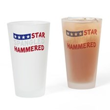 Star Spangled Hammered-01-01 Drinking Glass