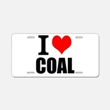 I Love Coal Aluminum License Plate