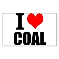 I Love Coal Decal