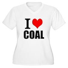 I Love Coal Plus Size T-Shirt