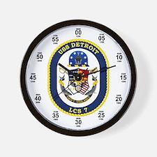 USS Detroit LCS-7 Wall Clock