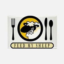 feed my sheep Rectangle Magnet