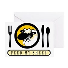 feed my sheep Greeting Card