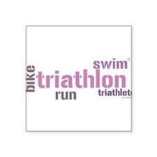 Triathlon---pink Sticker
