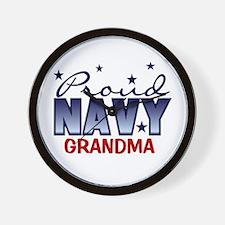 Proud Navy Grandma Wall Clock