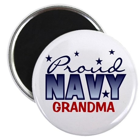 "Proud Navy Grandma 2.25"" Magnet (10 pack)"