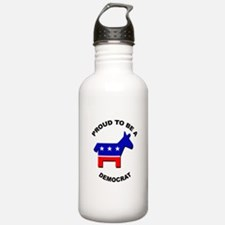 Proud to be a Democrat Water Bottle