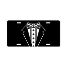 Bow Tie and Black Tux Aluminum License Plate