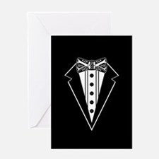 Bow Tie and Black Tux Greeting Cards