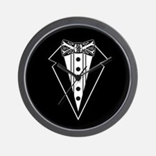 Bow Tie and Black Tux Wall Clock