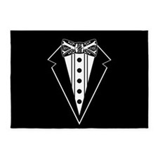 Bow Tie and Black Tux 5'x7'Area Rug
