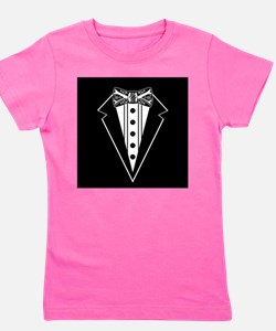 Bow Tie and Black Tux Girl's Tee