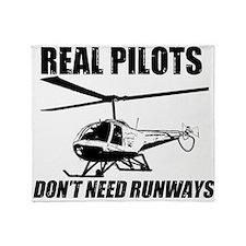 Real Pilots Dont Need Runways - Enstrom Throw Blan