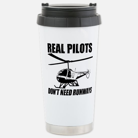 Real Pilots Dont Need Runways - Enstrom Travel Mug