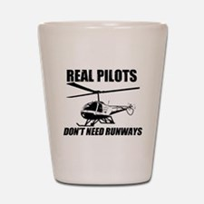 Real Pilots Dont Need Runways - Enstrom Shot Glass