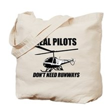 Real Pilots Dont Need Runways - Enstrom Tote Bag