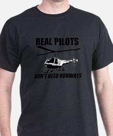 Real Pilots Dont Need Runways - Enstrom T-Shirt