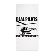 Real Pilots Dont Need Runways - Enstrom Beach Towe