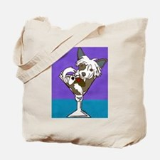 Chinese Crested Martini Tote Bag