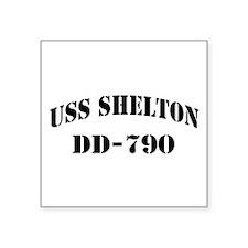 "USS SHELTON Square Sticker 3"" x 3"""