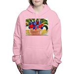 Flowers in Pot Women's Hooded Sweatshirt