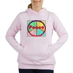 Abstract Peace Sign Women's Hooded Sweatshirt