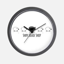 Black Sheep, white sheep Wall Clock
