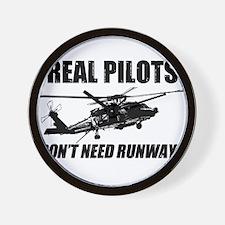 Real Pilots Dont Need Runways - Blackhawk Wall Clo