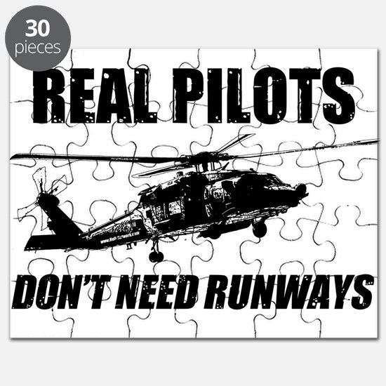 Real Pilots Dont Need Runways - Blackhawk Puzzle