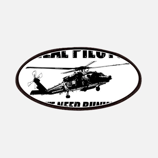 Real Pilots Dont Need Runways - Blackhawk Patches