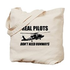Real Pilots Dont Need Runways - Blackhawk Tote Bag