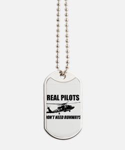 Real Pilots Dont Need Runways - Blackhawk Dog Tags