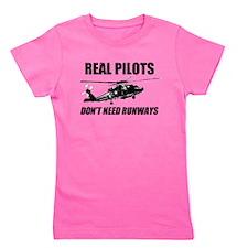 Real Pilots Dont Need Runways - Blackhawk Girl's T