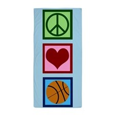 Cute Basketball Beach Towel