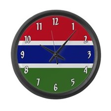 Flag of the Gambia Large Wall Clock
