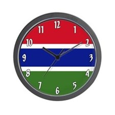 Flag Of The Gambia Wall Clock